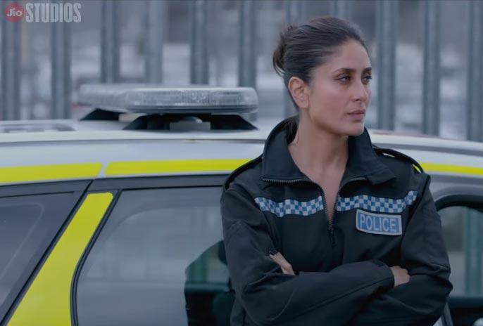Kareena Kapoor in police uniform in Angrezi Medium best comedy scene