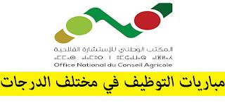 المكتب الوطني للإستشارة الفلاحية: مباريات التوظيف في مختلف الدرجات - 80 منصبا. آخر أجل هو 25 نونبر 2019