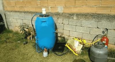 biodigestor caseiro botijao gas cozinha