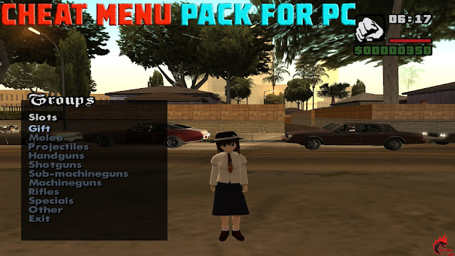 GTA San Andreas Cheat Menu Pack For Pc Latest Version
