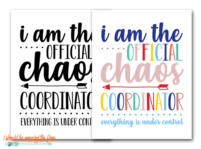 Chaos Coordinator Printables