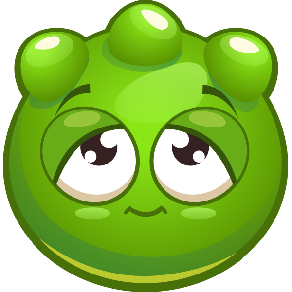 Green Bumpy Emoticon