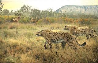 El guepardo gigante Acinonyx pardinensis