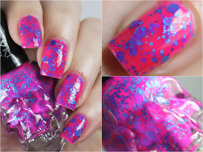 Blackheart Beauty Splatter Pink Blue by Bedlam Beauty