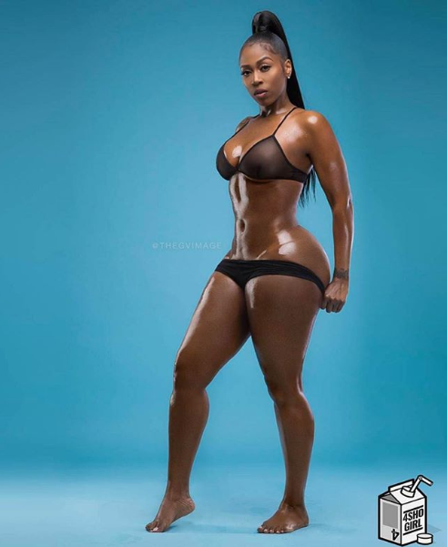 Rapper Kash Doll Shares Full  Display of her Hourglass figure