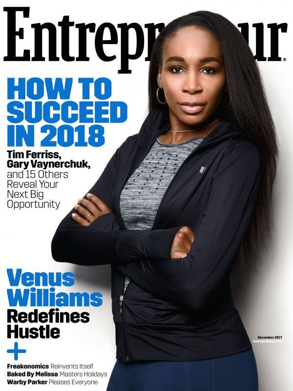 Venus Williams covers Entrepreneur Magazine's December Issue