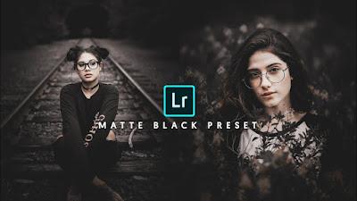 Preset Lightroom | black matte lightroom mobile preset FREE Download - lightroom mobile moody black look