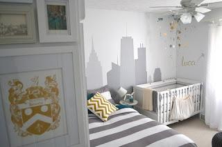 dormitorio bebé gris blanco