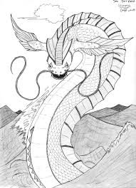 Sea Serpent Coloring Page
