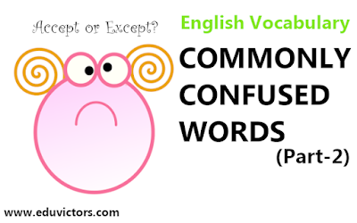 Commonly Confused Words  (Part-2)  - English Vocabulary  (#EnglishVocabulary)(#eduvictors)