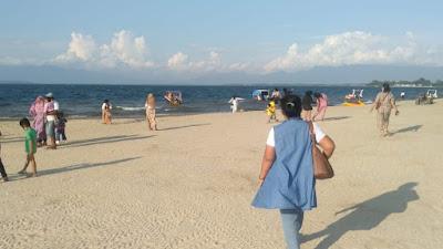 Wisata Pantai Pasir Putih Bulbul Balige Mulai Ramai Pengunjung