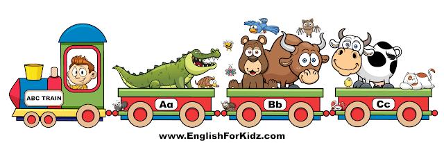 Classroom alphabet banner - printable ABC train