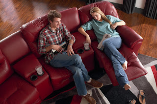 Baer's Bodie 4-Seater Power Reclining Home Theater Group
