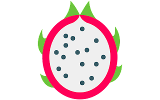 half dragon fruit clipart