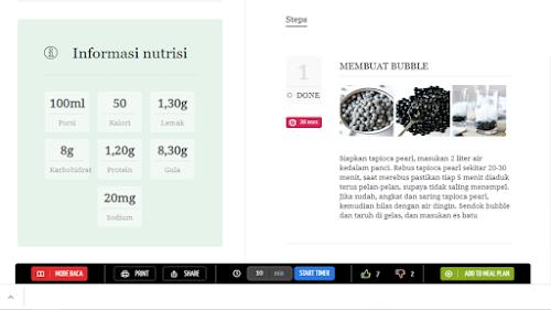 Informasi nutrisi cara memasak lengkap di Rina resep.com