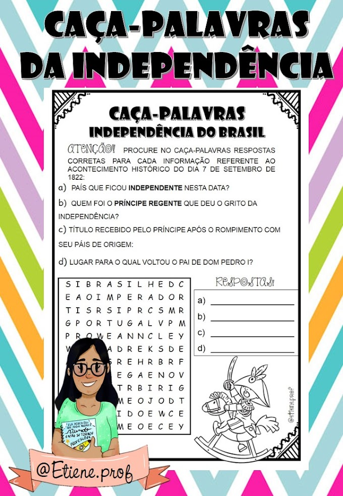 CAÇA-PALAVRAS DA INDEPENDÊNCIA