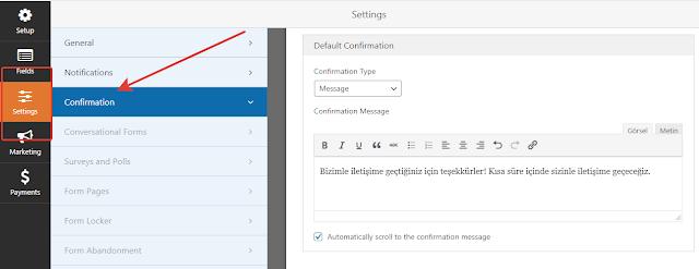 Wordpress İletişim Formu yapımı