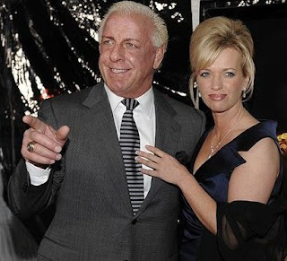 Picture of Jackie Beems with her ex-husband Ric Flair