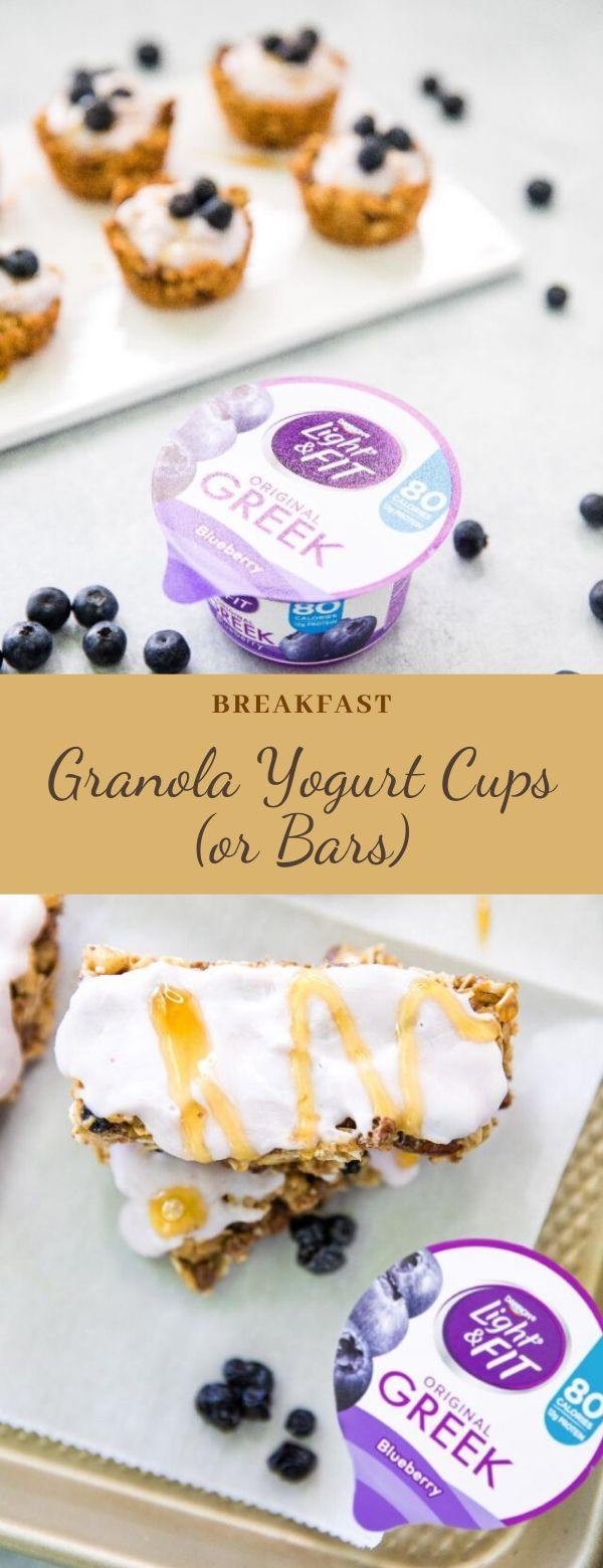 Granola Yogurt Cups (or Bars)