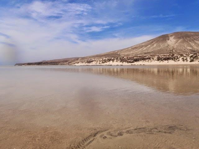 Laguna de Sotavento, marea alta, Fuerteventura