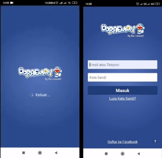 download tema facebook lite doraemon
