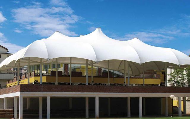 tenda membrane lapang tribun
