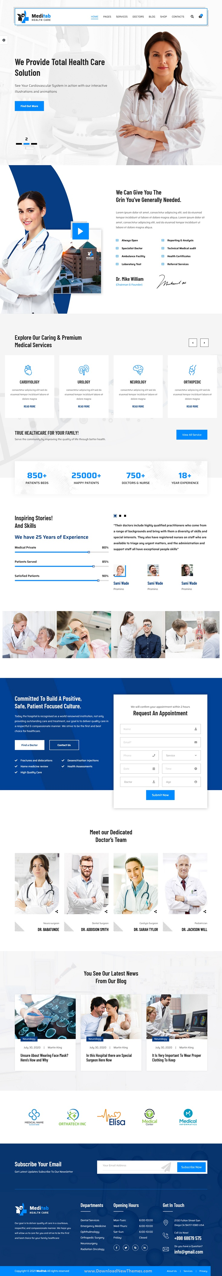 Hospital And Medical Multipurpose Bootstrap Template