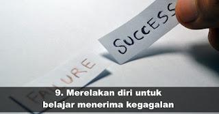 Merelakan diri untuk belajar menerima kegagalan