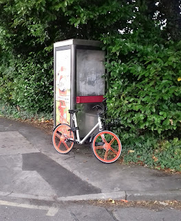 A Mobike parked up in Cheadle Hulme
