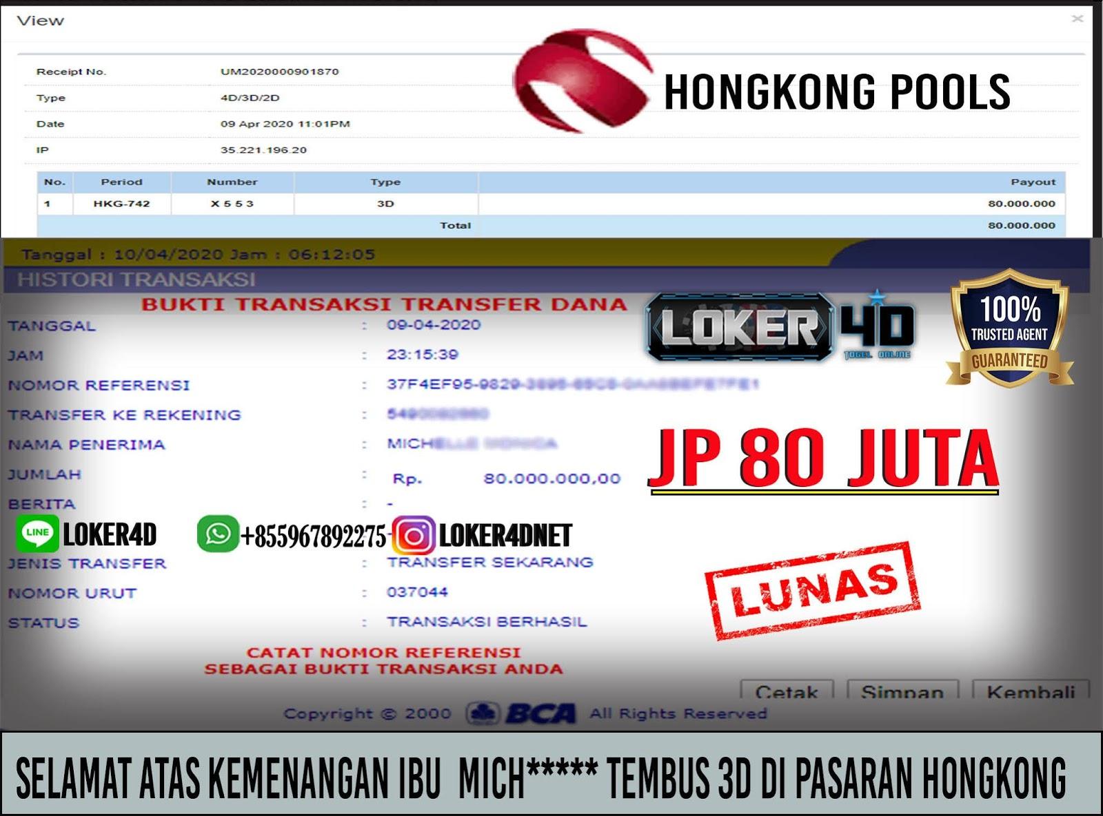 WOW HONGKONG JP 3D HINGGA 80 JUTA!!! HARI INI