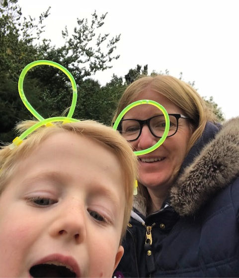 glow in the dark ears from Halloweed trail at Waddesdon Manor