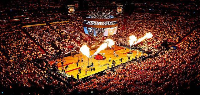Jogos esportivos e shows em Miami