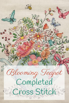 Finished Blooming Teapot Cross Stitch