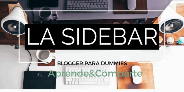 crear un blog en blogger: la sidebar