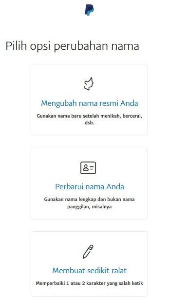 Cara mengubah nama di rekening paypal
