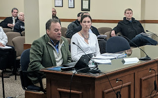 DPW Director Brutus Cantoreggi and Water Supervisor Laurie Ruszela provided an update to the Town Council, Jan 2019