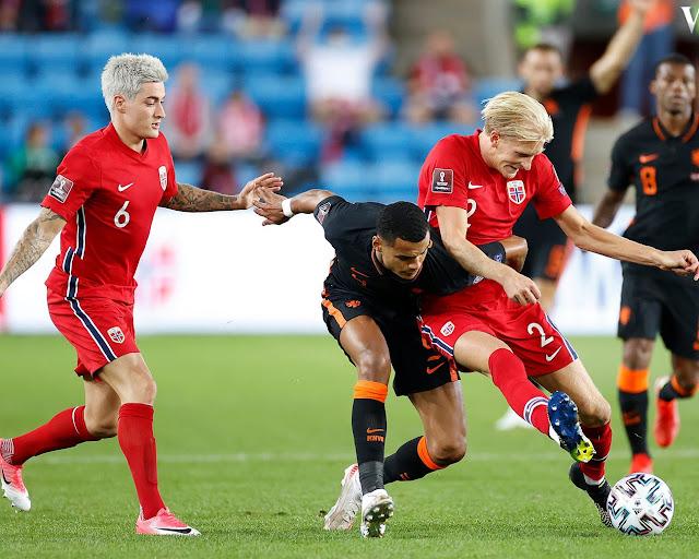ملخص واهداف مباراة هولندا والنرويج (1-1) تصفيات كاس العالم