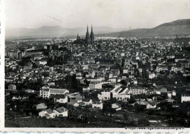 Photo ancienne de Clermont-Ferrand vue générale, de Montjuzet