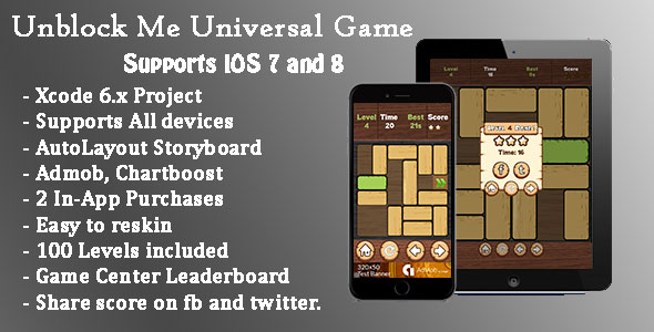 Unblock Me Universal Game (Swift)