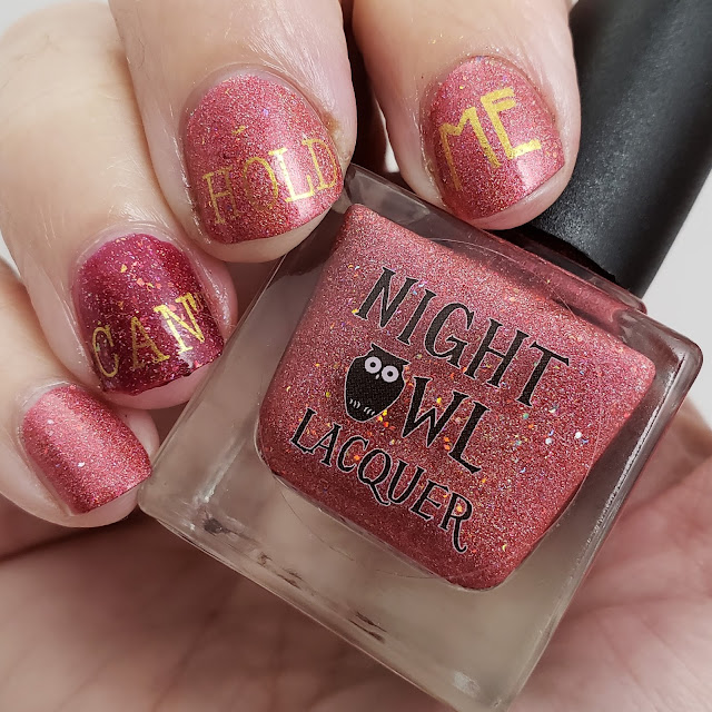 cant hold us, fitness journey, nail art, night owl lacquer