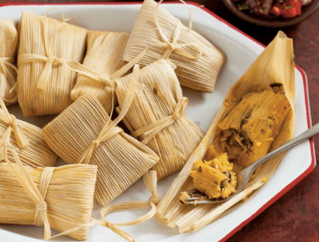 tamales de elote preparacion