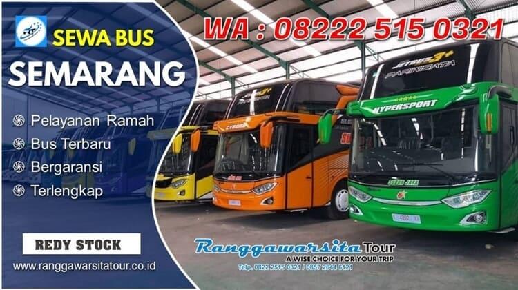 tarif dan harga sewa bus semarang ranggawarsita murah dan terpercaya