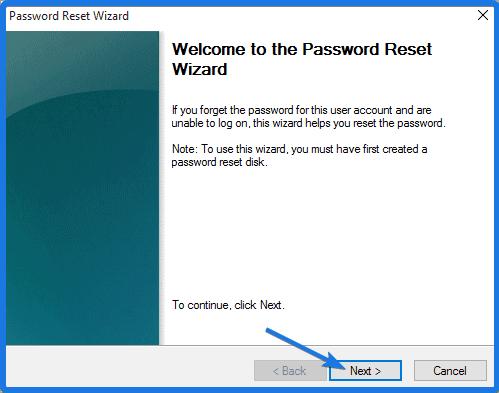 Windows 10 Password Reset Wizard