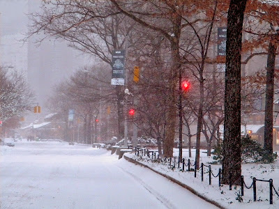 Winter snow storm New York City