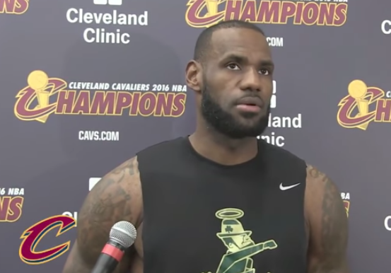 2d183ac39cae 35 89 165   LeBron James trolls Celtics with t-shirt in May 16, 2017 press  conference +Ultimate Warriors / Undertaker reminders (see linked post)