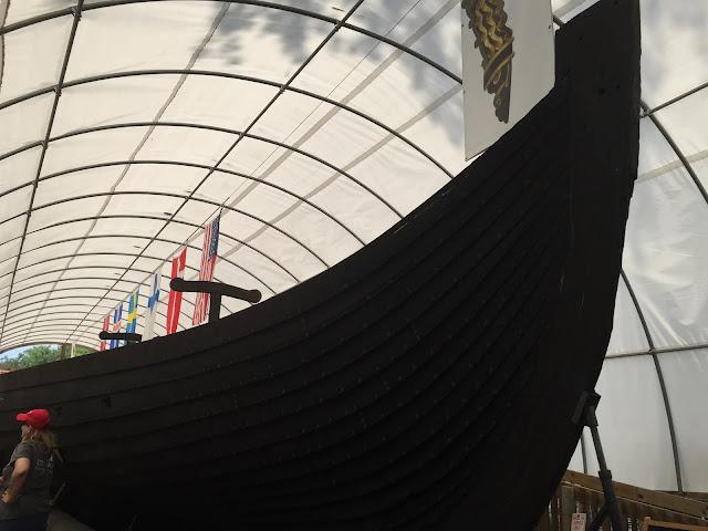 Touring Viking the Viking ship replica in Geneva, IL.