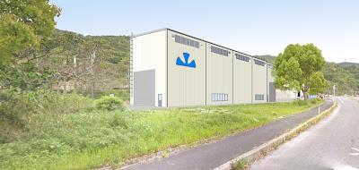 山下工業所第一西工場完成予想図