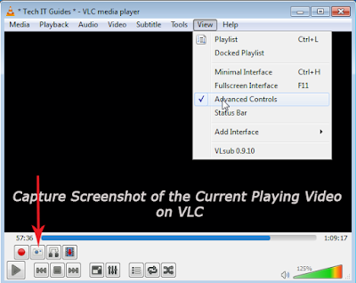 Capture Screenshot on VLC