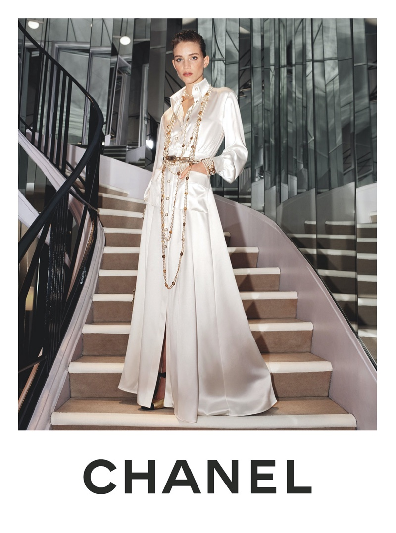 Rebecca Leigh Longendyke stars in Chanel pre-fall 2020 campaign.