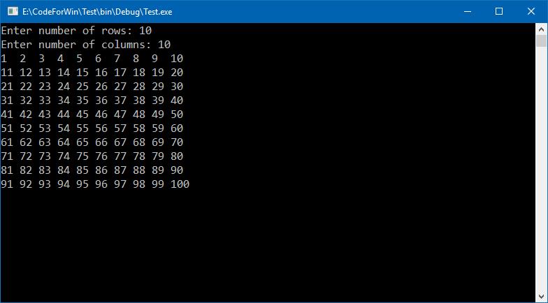 C program to print number pattern